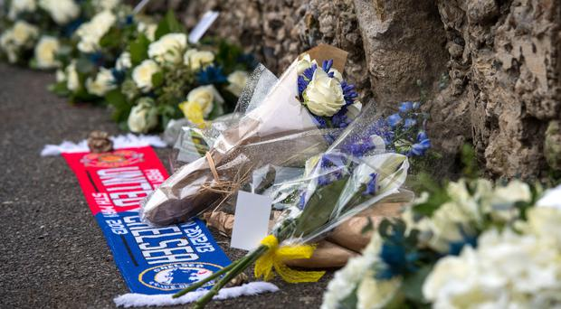 Tributes have been left at Stamford Bridge to former Chelsea midfielder and coach Ray Wilkins