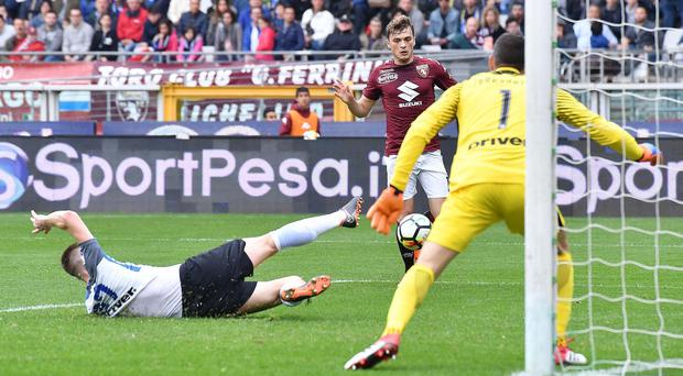 Torino's Adem Ljajic scores the winner against Inter Milan