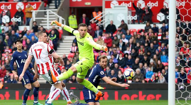Harry Kane has been awarded Tottenham's second goal at Stoke by the Premier League