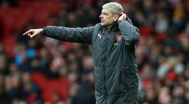 Arsenal manager Arsene Wenger will take his side into the Europa League semi-finals against favourites Atletico Madrid (Nigel French/EMPICS Sport)