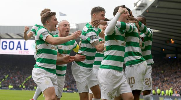 Celtic will play Motherwell in the Scottish Cup final (Andrew Milligan/PA)
