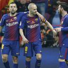 Andres Iniesta, centre, was on the score sheet (Francisco Seco/AP)