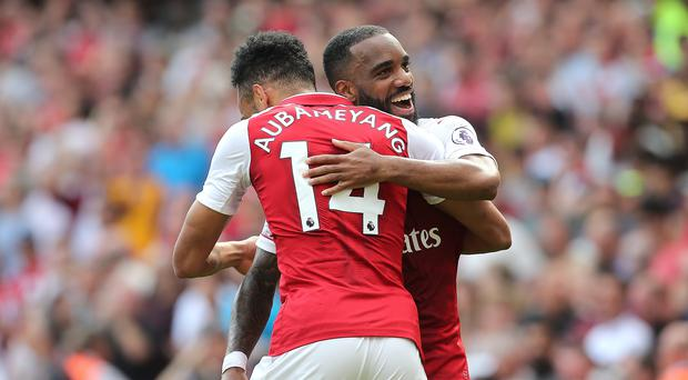Alexandre Lacazette scored twice in Arsenal's win