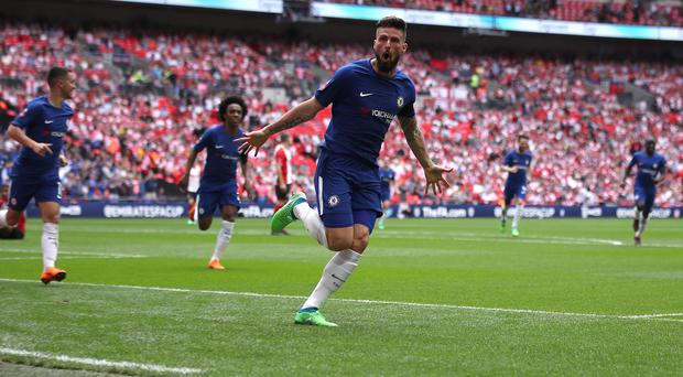Olivier Giroud scored the opening goal as Chelsea beat Southampton in the FA Cup