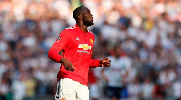 Leading line: Romelu Lukaku is confident in United's talent