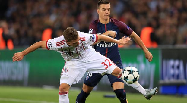 Giovani Lo Celso, right, broke the deadlock for Paris St Germain