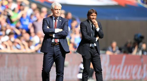 Mark Hughes was unhappy VAR technology was not used in the FA Cup semi-final defeat to Chelsea