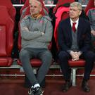 Arsene Wenger, right, was not happy with Arsenals' finishing