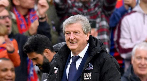 Roy Hodgson receives applause from Crystal Palace fans