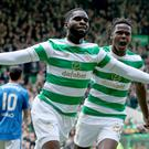 Celtic's Odsonne Edouard scored twice in the title-clinching win over Rangers