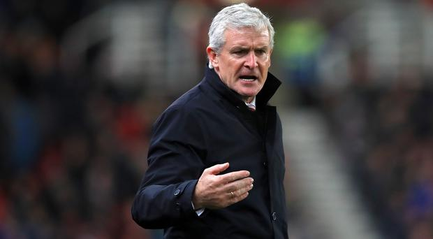 Southampton manager Mark Hughes has called for cool heads against Swansea