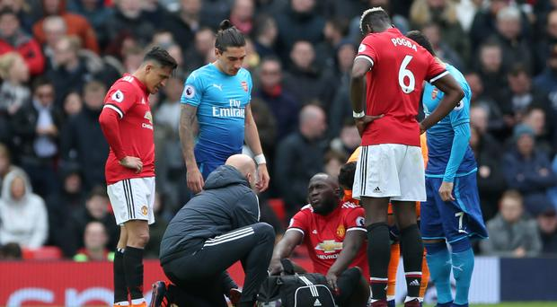Manchester United's Romelu Lukaku could miss the FA Cup final through injury