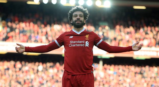 Mohamed Salah's goal celebration has been a familiar sight