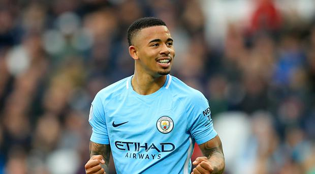 Gabriel Jesus is one of four Manchester City players in Brazil's World Cup squad (Adam Davy/PA)