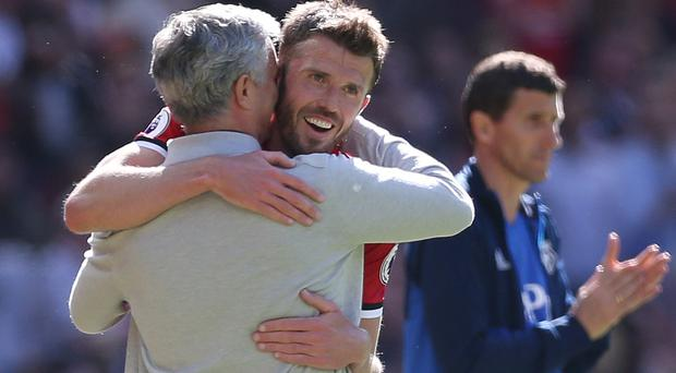 Michael Carrick will be part of Jose Mourinho's backroom staff for the cup final