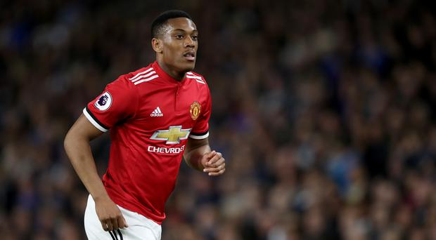 Manchester United's Anthony Martial has been left out of the France squad for the World Cup (John Walton/Empics)