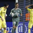 Luca Zidane (centre) made his first senior appearance for Real Madrid (Alberto Saiz/AP)