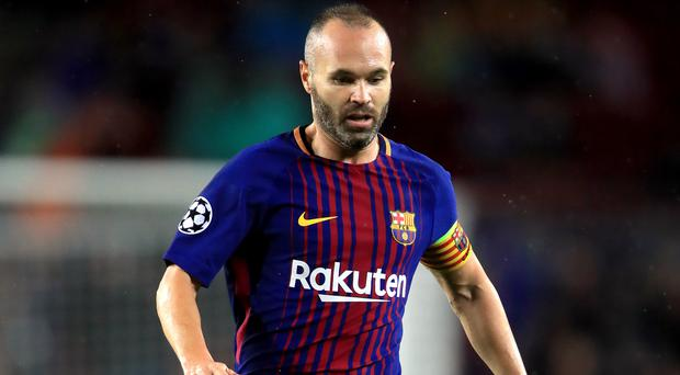 Barcelona beat Real Sociedad in Andres Iniesta's final appearance for the Catalans