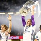 Gareth Bale is hoping to lift the Champions League at Real Madrid for a fourth time on Saturday