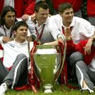 Steven Gerrard (second right)