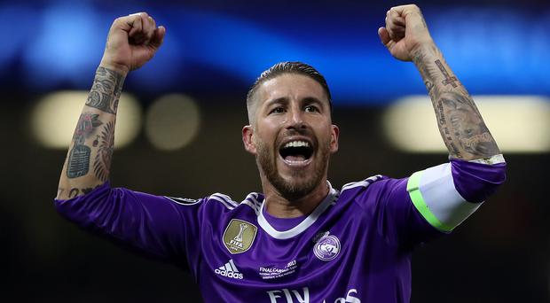 Real Madrid Sergio Ramos does not believe Liverpool's Mohamed Salah deserves to be ranked alongside Cristiano Ronaldo or Lionel Messi just yet .