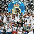 Real Madrid celebrated after their Champions League victory over Liverpool in Kiev