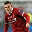 Andrew Robertson was critical of the part played by Sergio Ramos in Mohamed Salah's injury