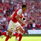 Richard Wood's two goals gave Rotherham promotion to the Championship