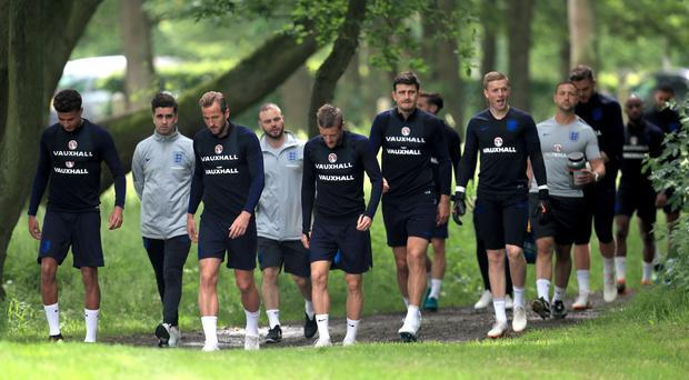 England held a training session at The Grove Hotel, London (Mike Egerton/PA)