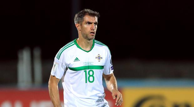 Aaron Hughes is the home nations' most-capped defender ever (Tim Goode/PA)