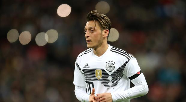Mesut Ozil put Germany ahead in Austria but it was defeat for the world champions (Adamy Davy, Empics)