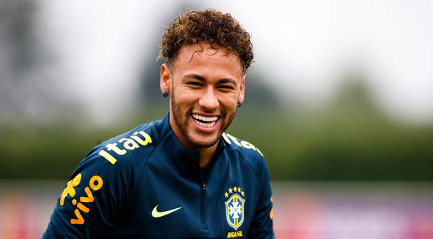Brazil's Neymar during a training session (John Walton/PA)