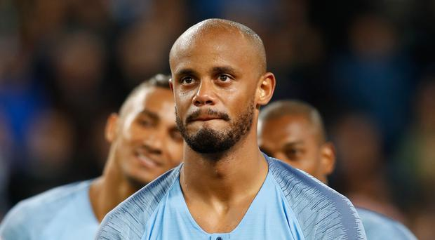 Vincent Kompany, pictured, suffered a fresh injury scare for Belgium (Nick Potts/EMPICS)