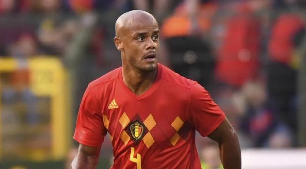 Defender Vincent Kompany has a calf problem which could see him forced out of World Cup contention. (Geert Vanden Wijngaert/AP Photo)