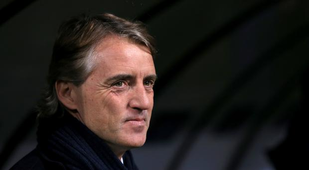 Inter Milan manager Roberto Mancini before the match