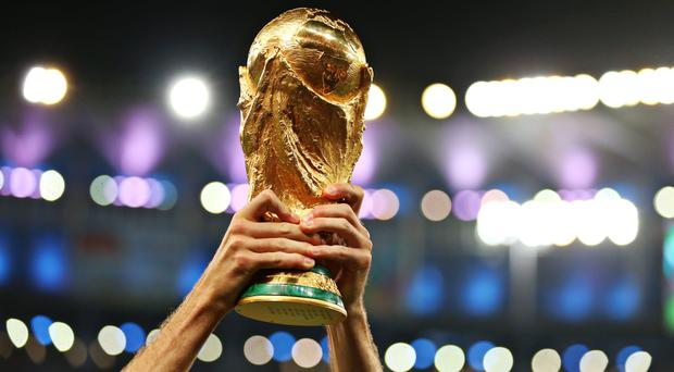 The coveted World Cup trophy