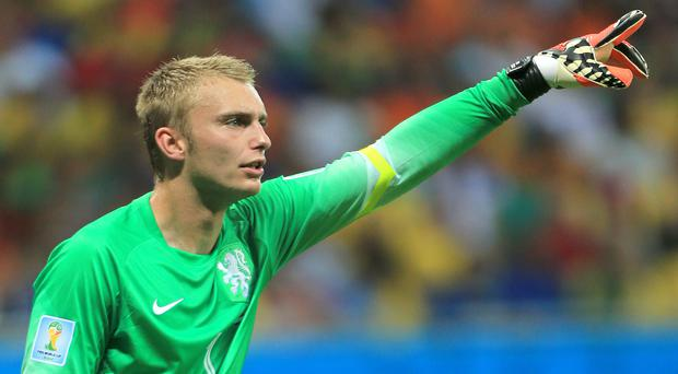 Jasper Cillessen says he would be happy to stay at Barcelona if they want him to stay (Nick Potts/Empics)