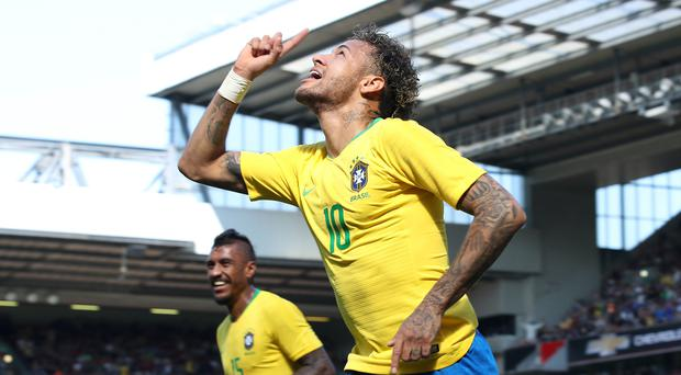 Brazil's Neymar has scored 55 goals for his country (Nick Potts/PA)