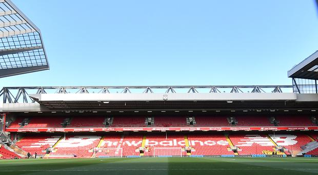 Redevelopment of Liverpool's Anfield Road end remains on track, according to the club (Anthony Devlin/PA).