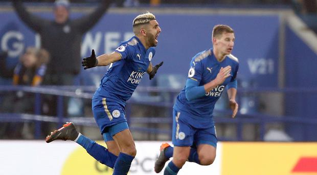 Leicester's Riyad Mahrez (left) has finally joined Manchester City (Tim Goode/PA)