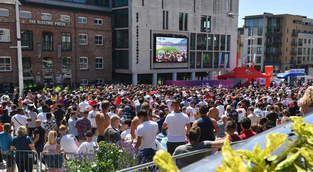 Millennium Square in Leeds will show the game (Anthony Devlin/PA)