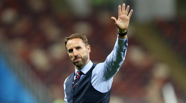 Gareth Southgate waves to fans after England's semi-final defeat (PA Archive)