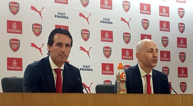 Unai Emery was unveiled as Arsenal's new head coach in May. (Mark Mann-Bryans/PA)