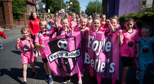 Fun time: girls from the Foyle Belles during last year's Foyle Cup launch