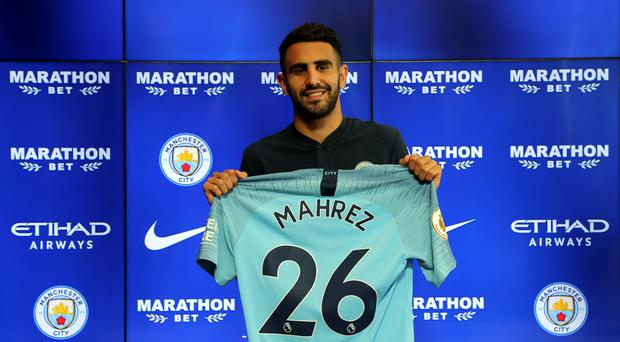 Riyad Mahrez is part of Manchester City's touring party (Richard Sellers/PA)