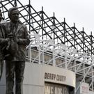 A general view of the Brian Clough and Peter Taylor statue outside the iPro Stadium, Derby.