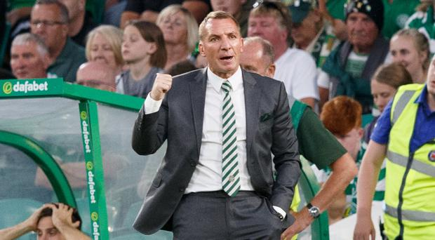 Celtic boss Brendan Rodgers saw his side coast past Alashkert as they moved a small step closer to the group stages of the Champions League (Robert Parry/PA)