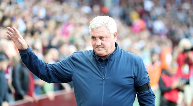 Steve Bruce will remain in charge at Aston Villa (Martin Rickett/PA)