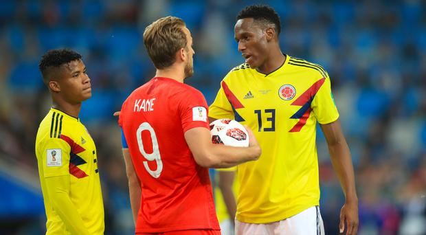 Yerry Mina, right, could be heading to the Premier League (Adam Davy/PA)