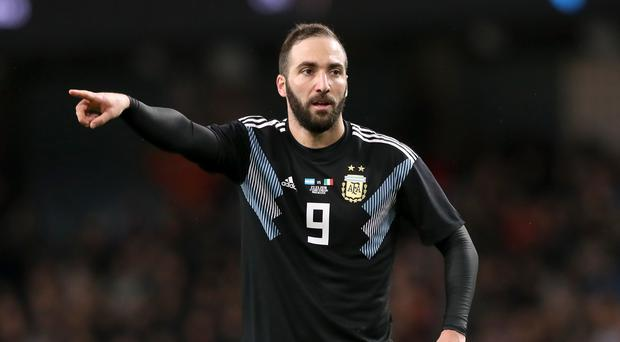 Gonzalo Higuain has moved to AC Milan after two seasons with Juventus (Martin Rickett/PA)